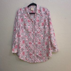 faded glory size L 12/14 flower blouse